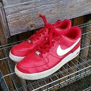 Mens Nike Red Air Force 1 Size 12